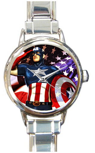 2014 Personalized Design Steven Rogers figure Watch Top quality Super durable material Price affordable Wrist fit unisex(China (Mainland))