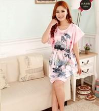 Hot Sale Fashion Lady Summer Robe Chinese Women's Silk Rayon Bath Gown Yukata Nightgown Nuisette Pijama Mujer One Size Xsz029(China (Mainland))