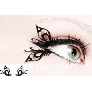 Free shipping Butterfly art paper cutting false eyelashes chinese style paper cutting false eyelashes(China (Mainland))