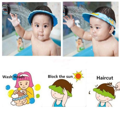 1 x Adjustable Baby Hats Toddler Kids Shampoo Bathing Shower Cap Wash Hair Shield Direct Visor Caps For Children Baby Care