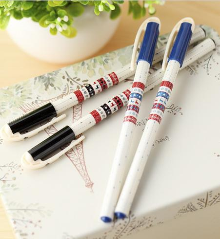 2015 Real National Ethnic Gel Pen Cute Student Drawing Pens Accessories Office & School Materials Korean Supplies Stationery(China (Mainland))