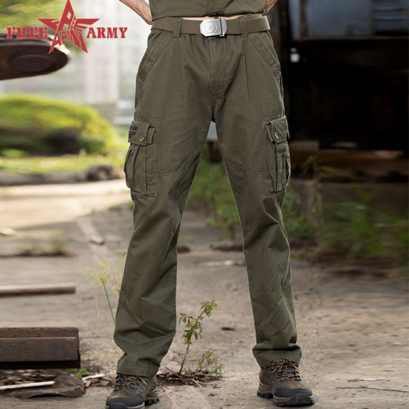Free Army 100% Cotton Army Pants Sport Leisure Style Military Cargo Pants for Men Zipper Button Trousers Outdoors MK-772A Z10(China (Mainland))