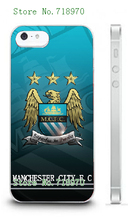 new arrival hot 1pc hybrid retail MCFC city football white mobile cellphone cover hard cases for IPHONE 5 5s free shipping