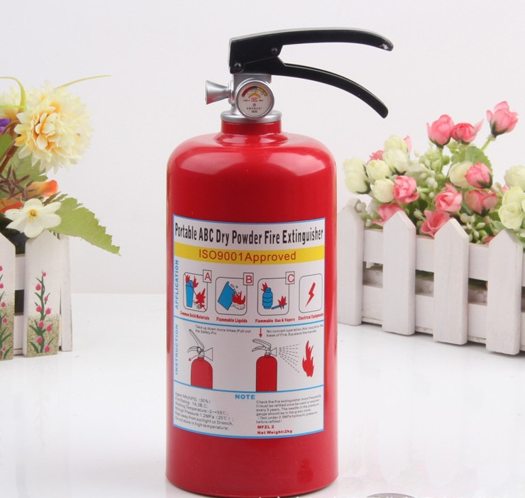 Free shipping originality fire extinguisher coin piggy bank,y saving money box,coin bank,money box lovely kids gift,novelty toy(China (Mainland))
