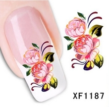 Artificial flowers, watermark nail stickers series XF1187