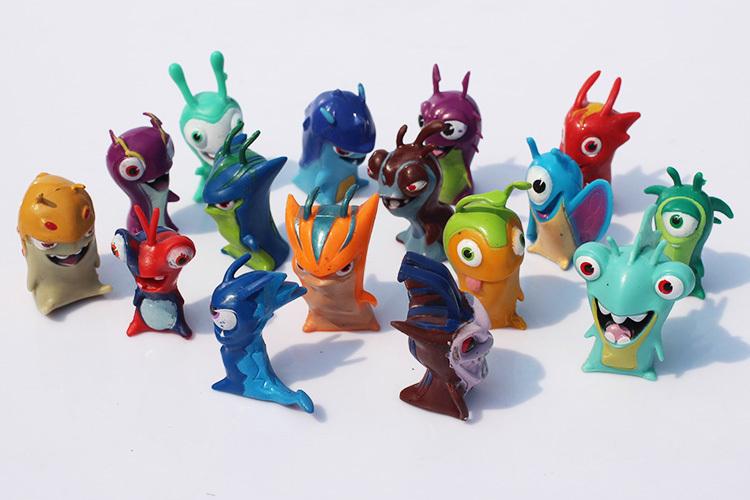 16pcs/set cute Slugterra Figures baby toys Anime Cartoon Action Figure Toys Kids Juguete birthday gift - Enjoy E-Shop store