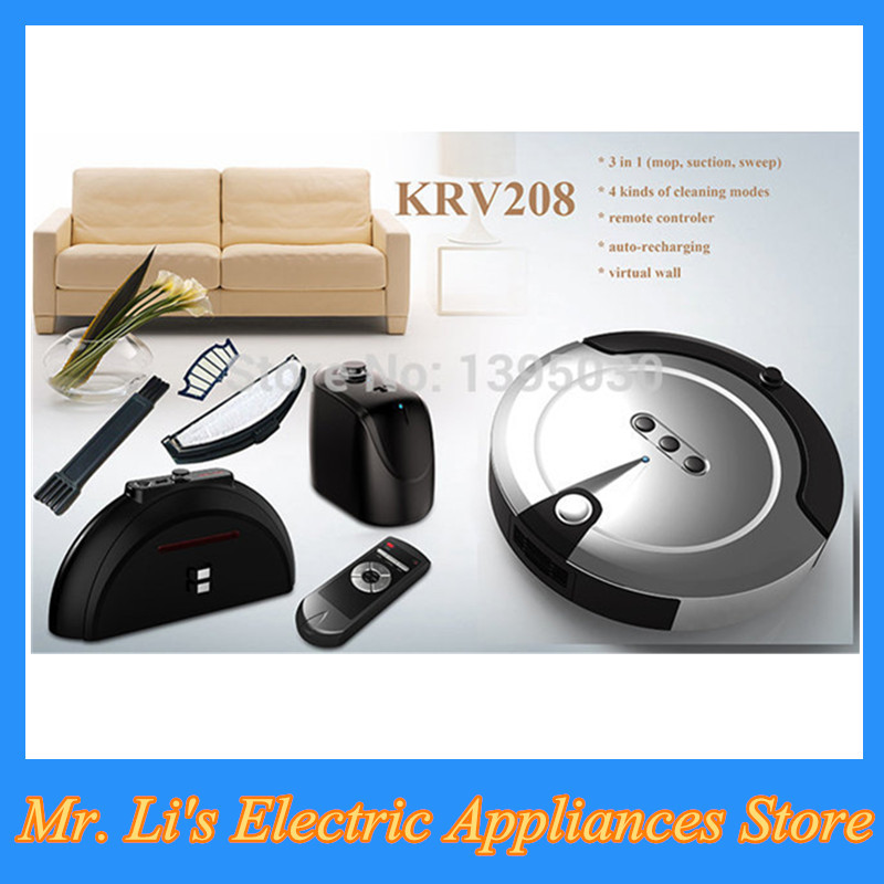 4PCS/Lot Hot Sale Ultra-Thin Intelligent Sweeping Robot Smart Efficient Automatic Vacuum Cleaner KRV208(China (Mainland))