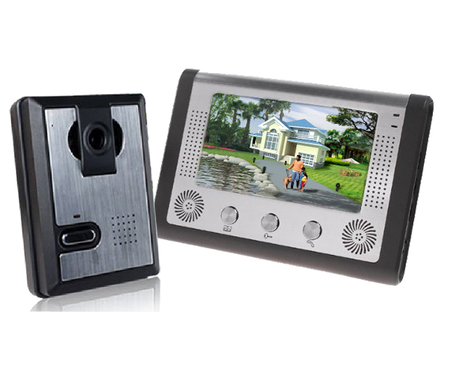 DHL freeshipping  7 Inch LCD Display Wired Video Door Phone Night Version Intercom System,video doorbell<br><br>Aliexpress