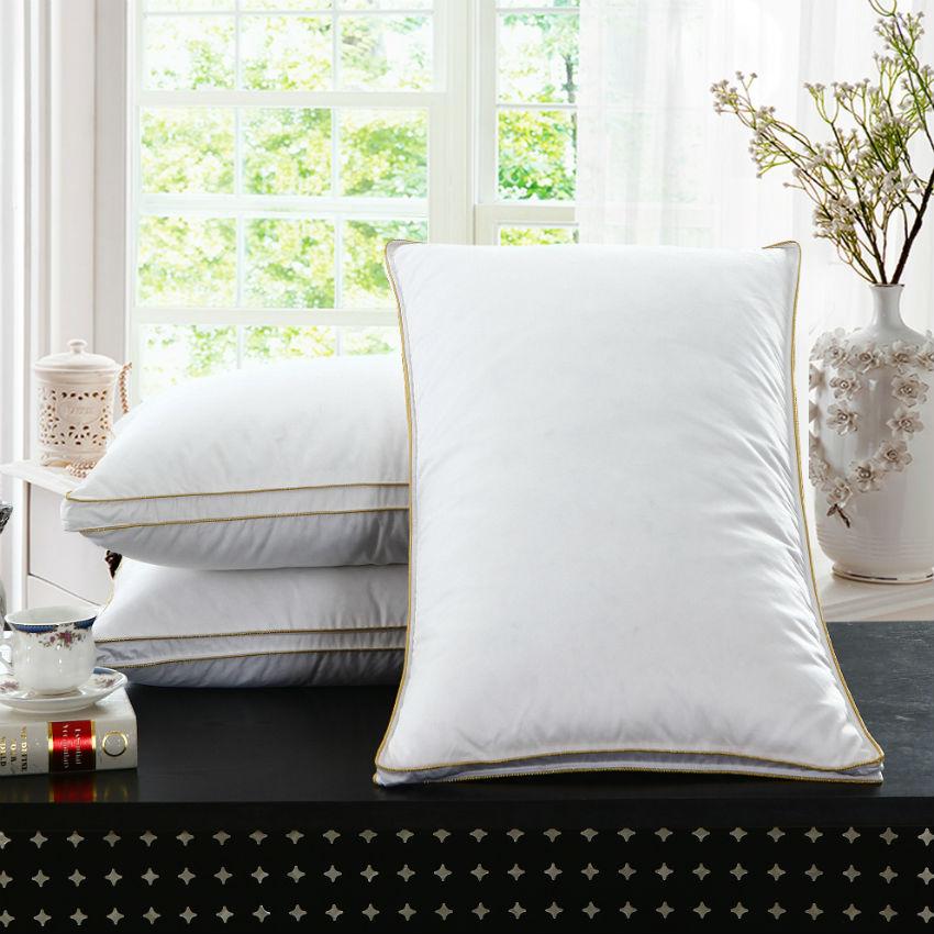 2016 New Design White Goose Feather Pillow Neck Health