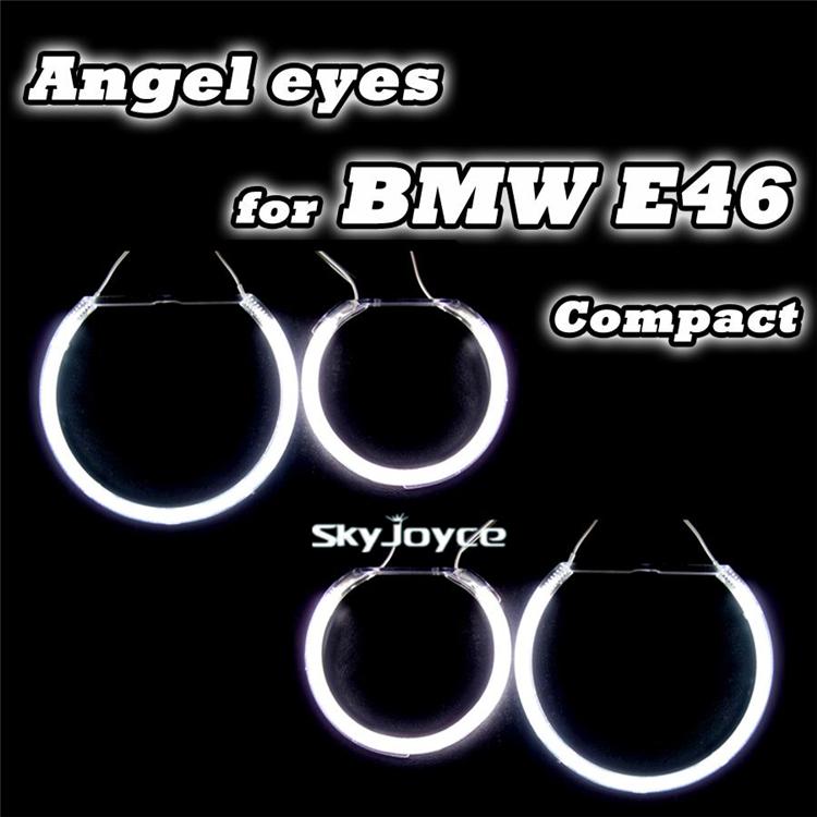 1 set=4 halo rings auto CCFL angel eyes kit factory offer E46 Compact/E83/X3 ccfl angel eyes angel eyes kit(China (Mainland))