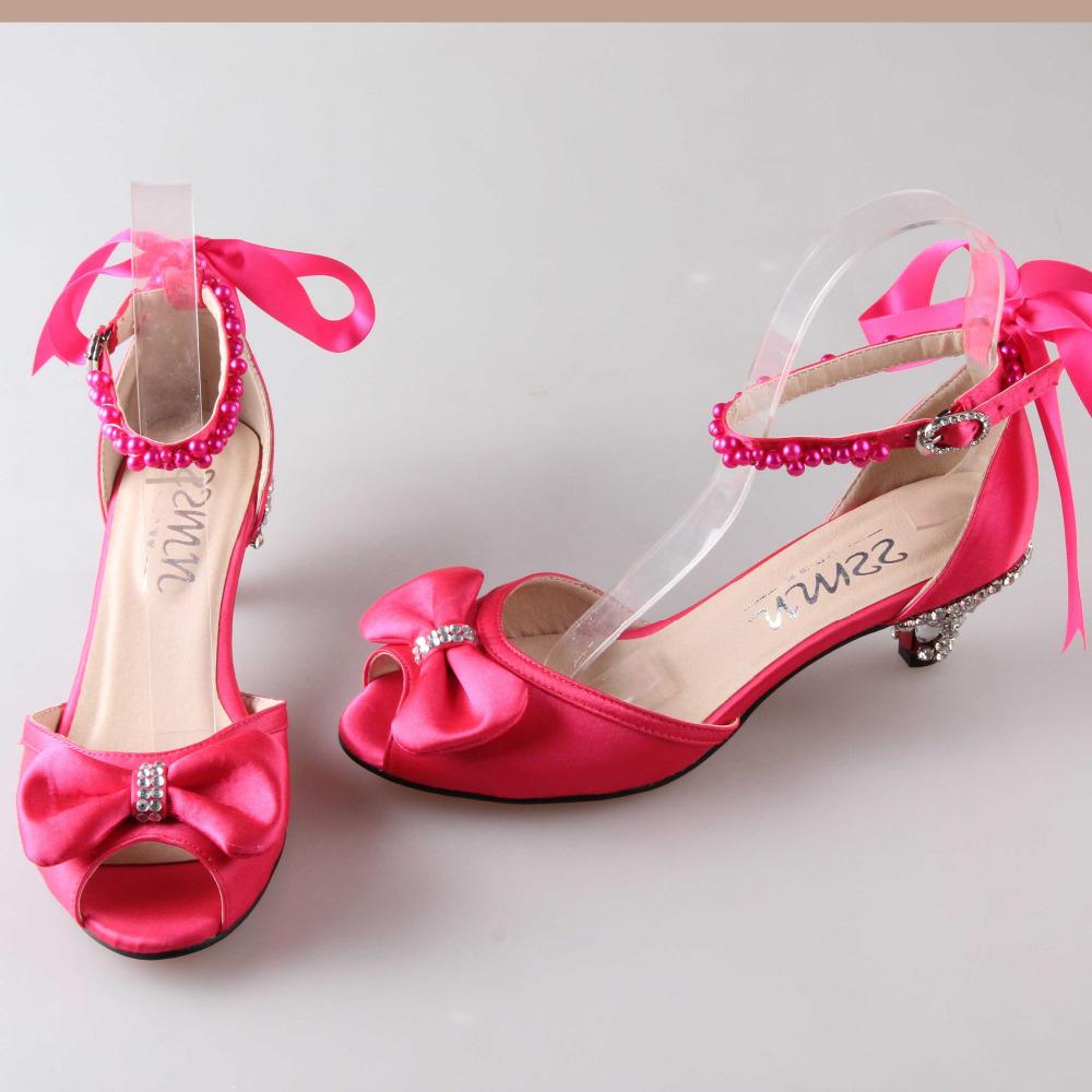 pink wedding shoes low heel is heel