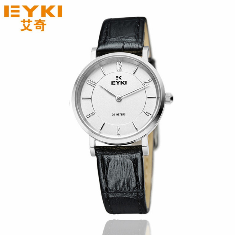 EYKI Brand Slim Female Reloj Pulsera New Fashion Simple Luxury Business Orologio Women Casual Waterproof Leather Quartz Watches - Mradio store