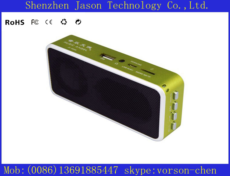 built in amplifier mini usb ce fc rohs speakers 10pcs/lot(China (Mainland))