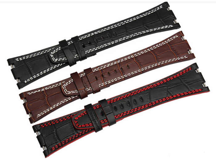 For Audemars 100% Handmade 28 mm Genuine Leather Handmade Watch Band Strap For AP For Piguet+Tools(China (Mainland))