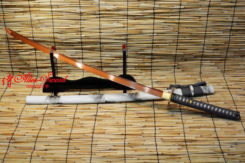 BALLTE READY RED 9260 SPRING STEEL BLADE JAPANESE FULL TANG KATANA SWORD SHARPEN - We can to world allen-sword store