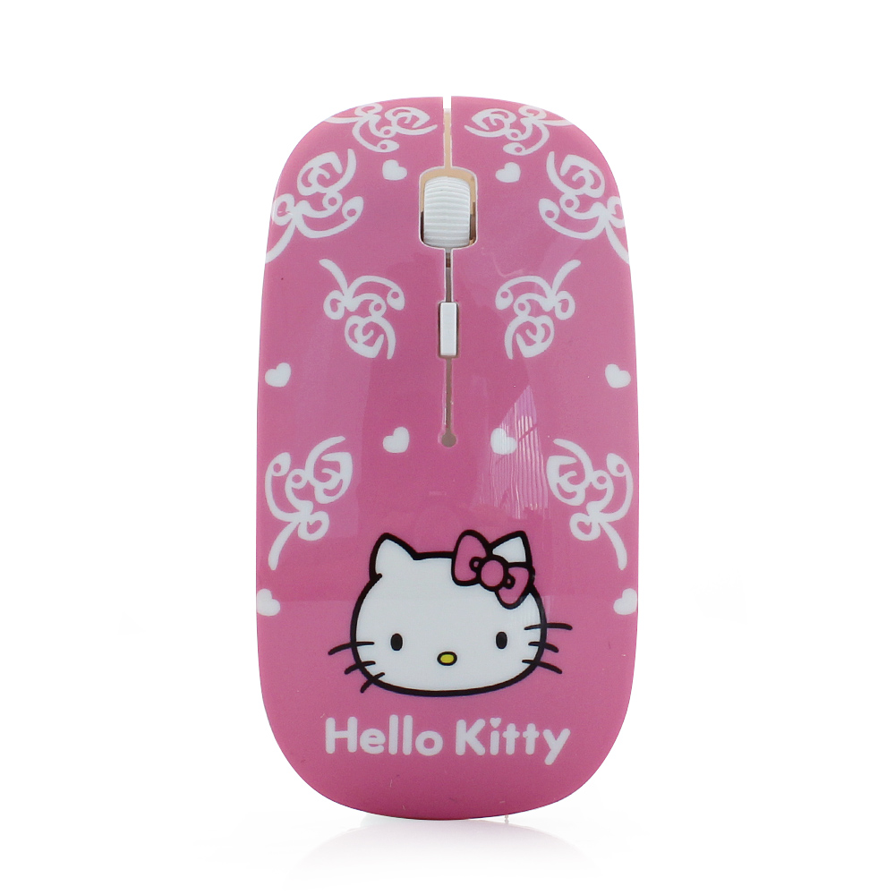 2016 New Super Thin Mouse Adjustable DPI Laptop Women Mouse Gamer Wireless Mouse Hello Kitty for PC Computer Free Shipping(China (Mainland))
