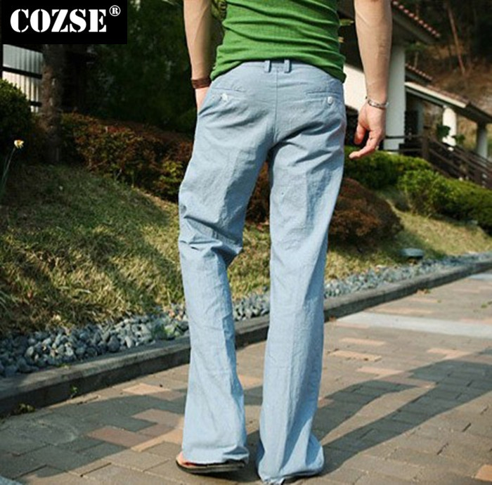 Linen Drawstring Pants For Men Men Loose Drawstring Linen