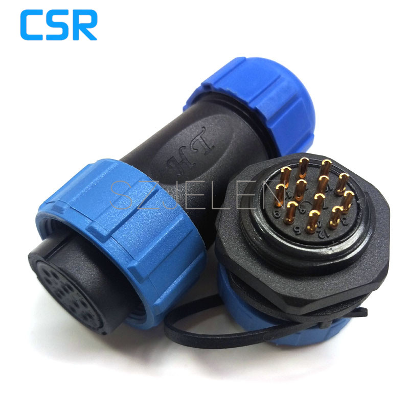 SP2110/S12-P12, LED waterproof cable connectors 12 pin,IP68, Power supply chassis cable waterproof plug and socket(China (Mainland))
