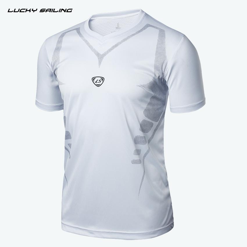 LUCKY SAILING 2015 New brand t shirt Men Casual T-Shirt camisetas short sleeve tops Slim Fit Quick dry sport shirt Free shipping(China (Mainland))