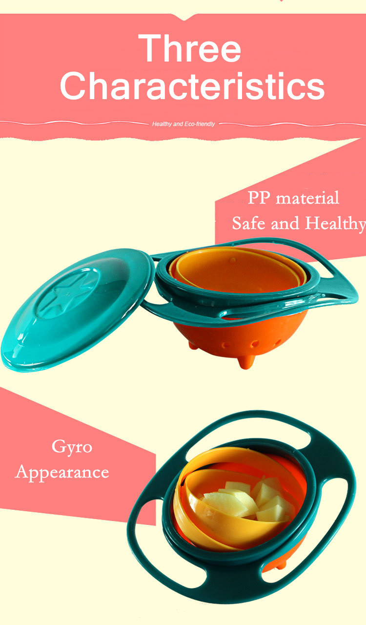 New Arrival Hot Sales Children Toy Universal 360 Rotate Spill-Proof Bowl Dishes Free Shipping&Wholesales