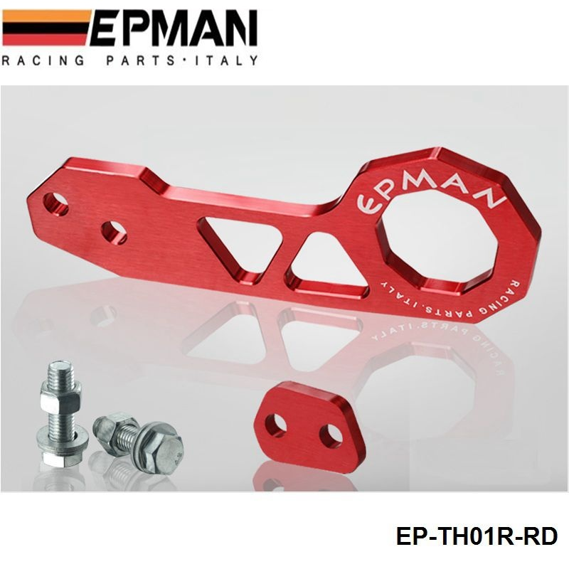 EPMAN Billet Aluminium Rear Tow Hook RED Universalcar such as for Skyline 200SX R33 S13 S14 EP-TH01R (Default Color is Red)<br><br>Aliexpress