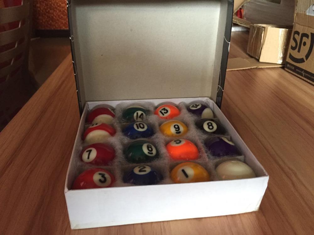 Mini size 25mm nine-ball Pool ball set, small compelete 16pcs Snooker Billiard ball kit(China (Mainland))