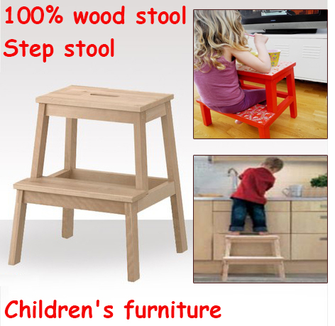 New Wholesale !Children's Day gifts, Children step stool,child chairs 100% wooden stool,step stool,children furniture(China (Mainland))