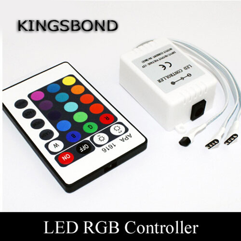 24 Keys IR RGB remote controller for LED module and LED strip lights, 72Watts output, free shipping, 2pcs/lot<br><br>Aliexpress