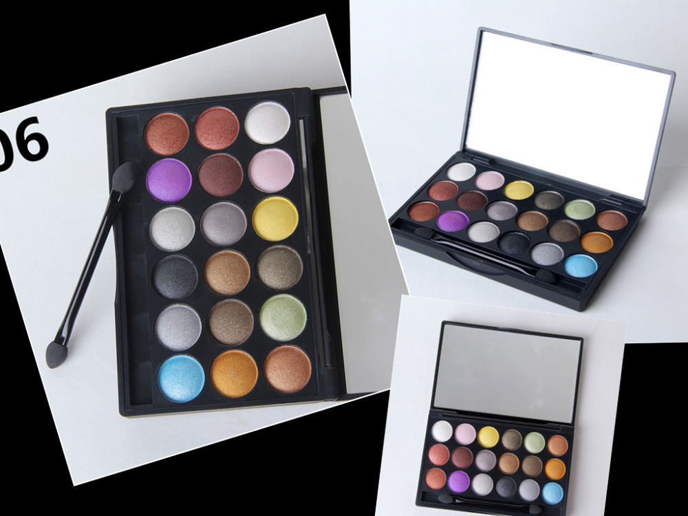 New Top MC makeup cosmetics 18-color eyeshadow palette 32g Free shipping Quickly send(China (Mainland))