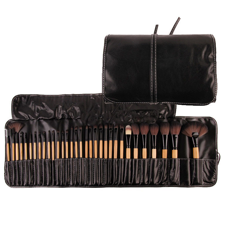 Bestselling 32Pcs Print Logo Makeup Brushes Professional Cosmetic Make Up Brush Set The Best Quality!(China (Mainland))
