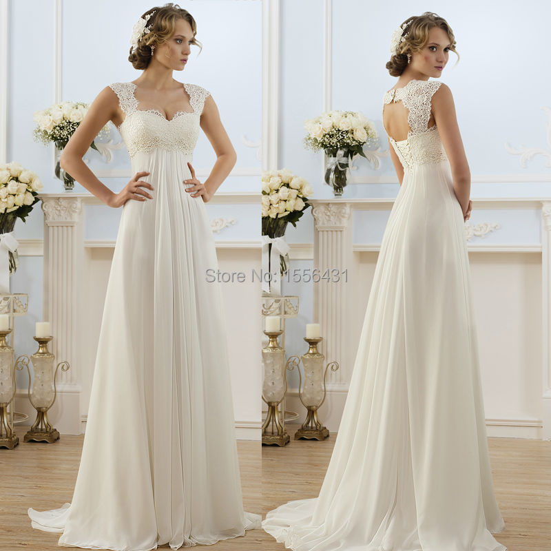 New arrival 2015 new fashionable elegant cap sleeve a line for Long elegant dresses for weddings