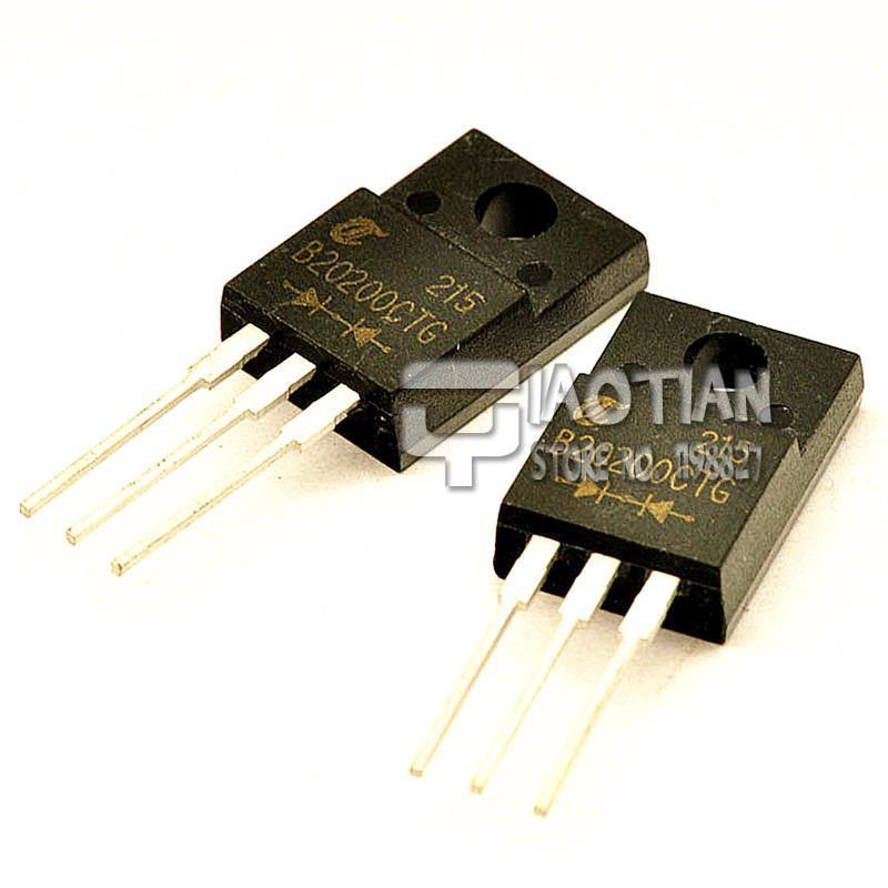 Schottky Diode MBRF20200CTG 20A/200V TO-220F 3 Pin(10PCS/Lot)(China (Mainland))