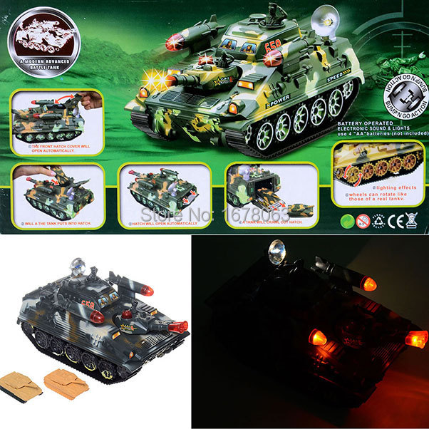 Military Cannon Electric Toy Tank Ship Figure Machine Battle Marine War Missile Scale 1:22 Light & Sound Cool Gift Collection(China (Mainland))