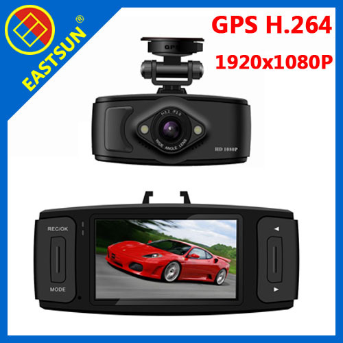 "EASTSUN Car DVR GPS Ambarella HDMI H.264 Full HD 1920*1080p G-sensor 2.7 inch"" TFT LCD Video Camera Record Black Box L6000 inch"