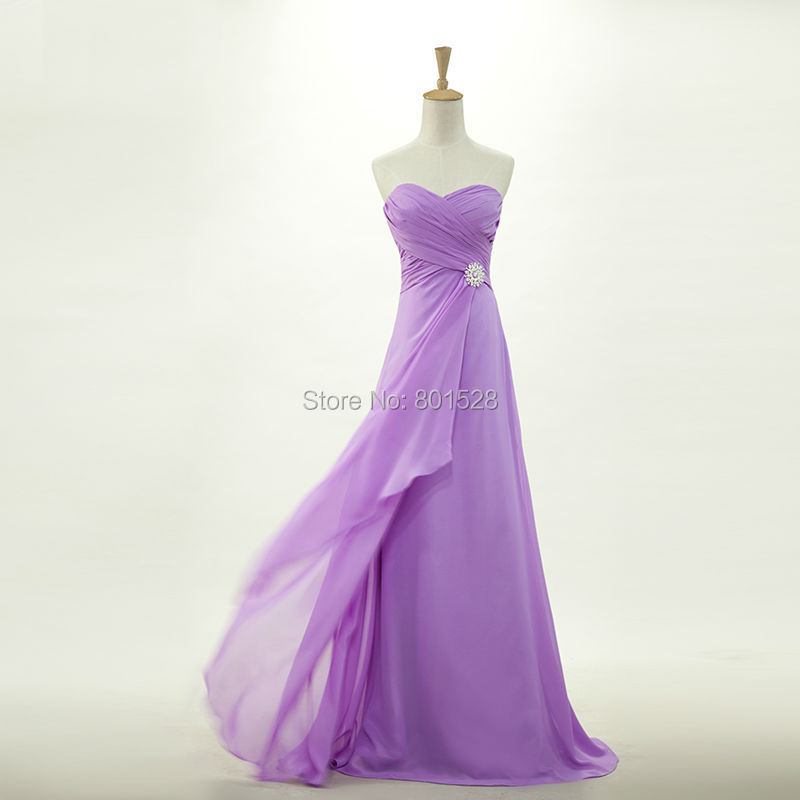 Elegant long chiffon cheap purple bridesmaid dresses gown for Maid of honor wedding dresses
