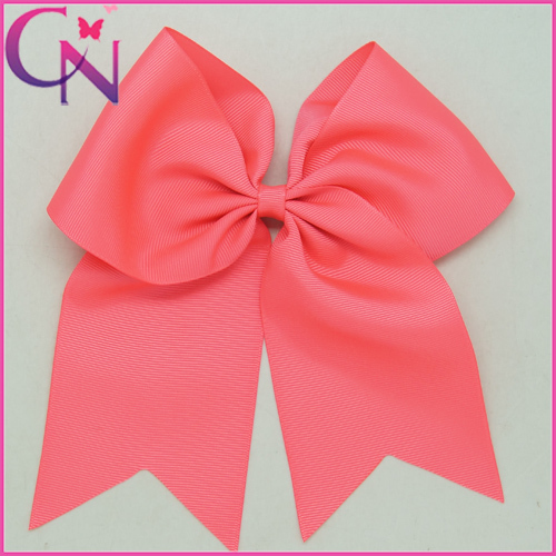 "Large Solid Grosgrain Cheer Bow For Girls Handmade 8"" Cheerleading Hair Bow With Clips Colorful Cheer Bow 25pcs/lot CNHB-140841(China (Mainland))"