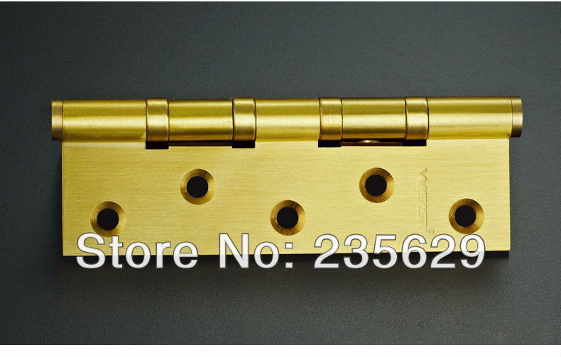 Free Shipping, High Quality brass ball bearing hinge Hinges, 5inch, 3mm thickness, Low Noise, smooth and quite(China (Mainland))