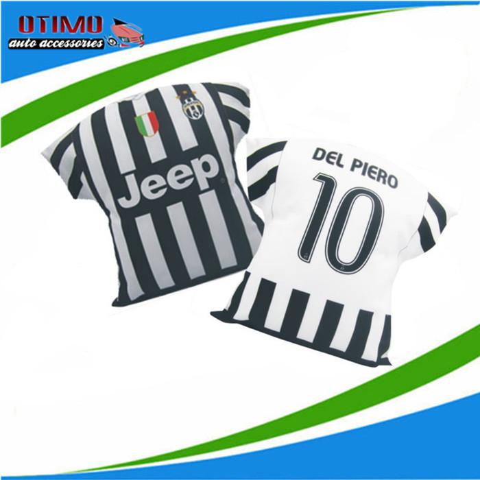 New Season Auto Juventus Football Pillow Soccer Jersey Car Decorative Pillow Fan Souvenir Soccer Cushion Tevez Vidal Pogba Pirlo(China (Mainland))