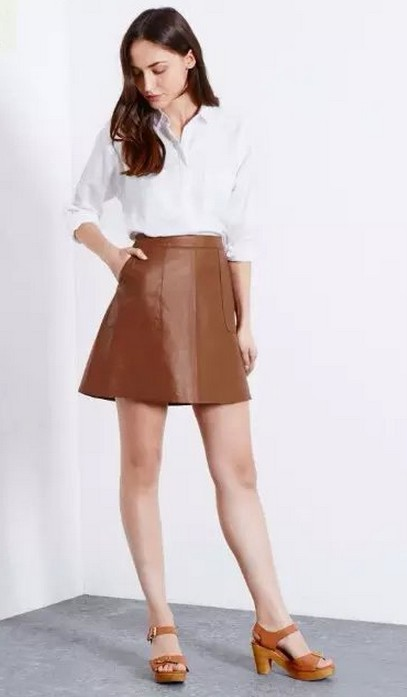 Brown leather skirt – Modern skirts blog for you