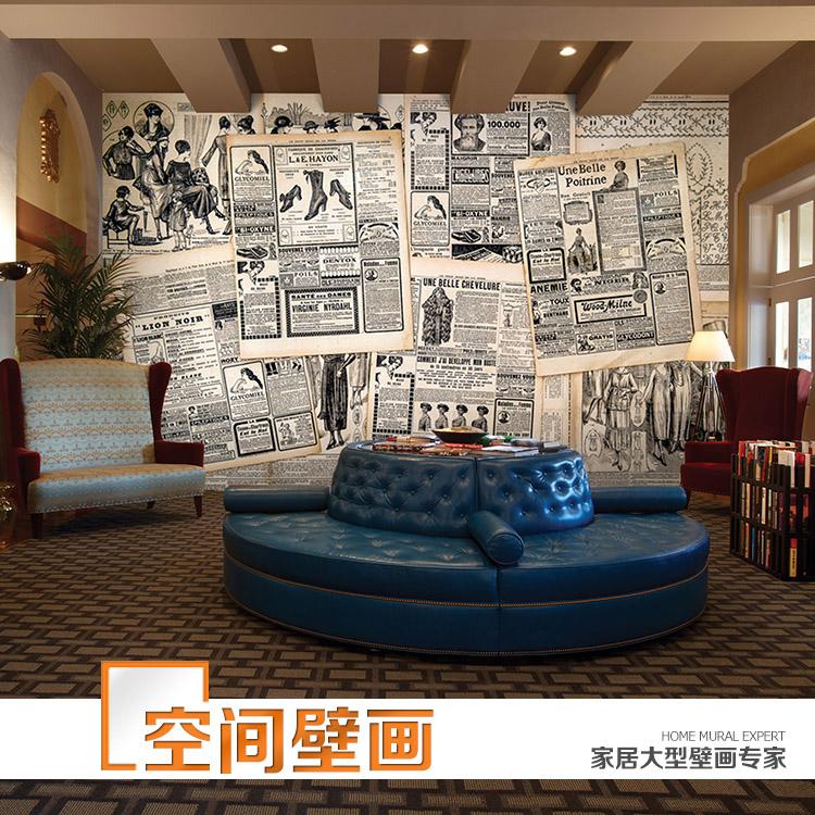 3d retro nostalgia wallpaper mural living room bedroom for Cafe wall mural