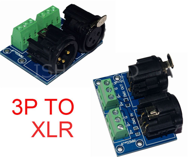 3P to XLR3 For RGBW led DMX Controller driver dimmer Light(China (Mainland))