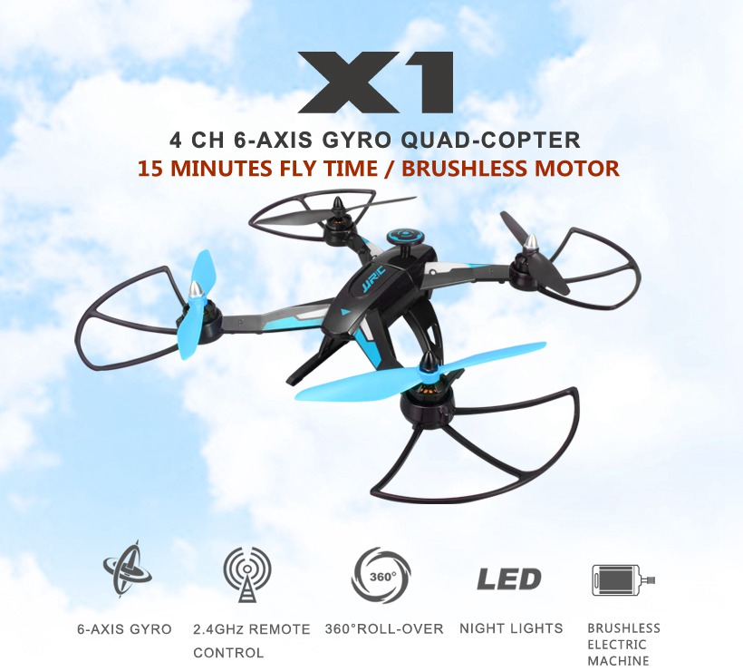 Drones With Brushless Motor Jjrc X1 Hexacopter Professional Drone 2.4g 4ch 6 Axis Gyro Mini Dron Rc Quadcopter Flying Helicopter(China (Mainland))