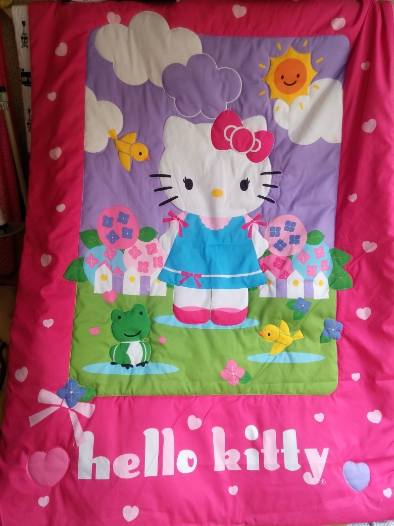 Children quilt blanket Cute cartoon lovely hello kitty bedding product girl boy baby quilt(China (Mainland))