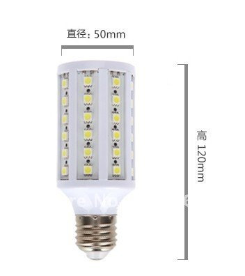 15W 5050 SMD 60 LED Corn Bulb Light E27 Lamp pure White 220V 900LM, - Friendship Top On Line Store store