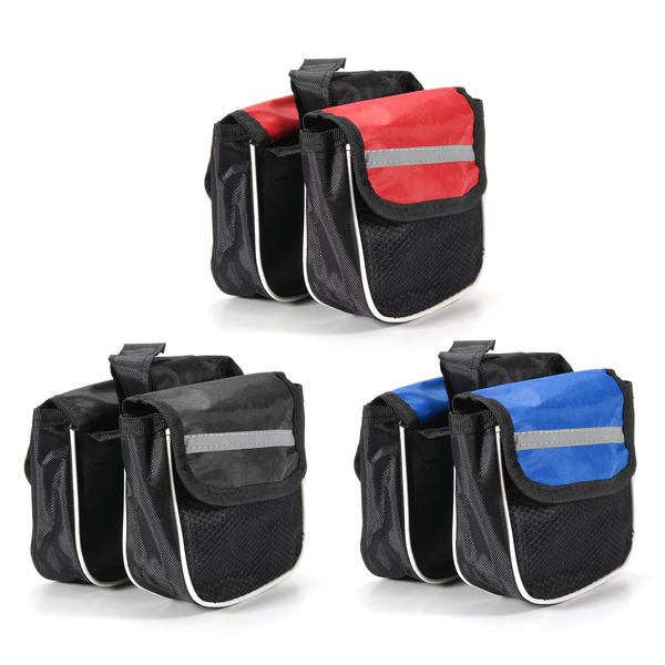 3 Colors Cycling 600D Polyester Road MTB Bicycle Bike Frame Saddle Bag Pannier Front Tube Bags Double Sides<br><br>Aliexpress