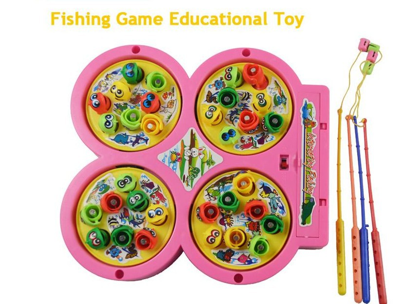 Free shipping(1set)Kids' Educational magnetic music toys/Electric Fishing game for kids/Parent-kids game(China (Mainland))
