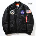 Palace jacket camperas hombres Flight Pilot Jacket Coat Ma1 Bomber Jackets homme Nasa Air Force Embroidery