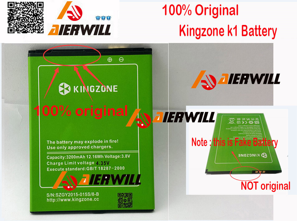 100% Original Kingzone k1 Battery 3200mAh Large New Replacement For Kingzone K1 turbo pro phone + Free Shipping In stock