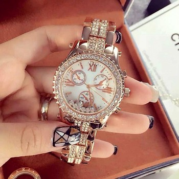 Luxury Women Watches Fashion Woman Rhinestone Watch Austria Crystal Steel Watches Female Quartz Wristwatches Lady Dress Watch