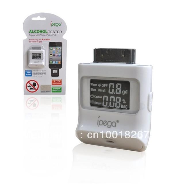Digital LCD Breath Alcohol Tester 4pcs/lot  iPhone 4 4S iPad Breathalyzer Free Shipping UPS DHL EMS HKPAM CPAM